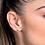 Thumbnail: Brinco formato de rosa folheado a ouro - tam.único 5265690014