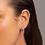 Thumbnail: Brinco curvado folheado a ouro com cristais - tam.único 5264910014