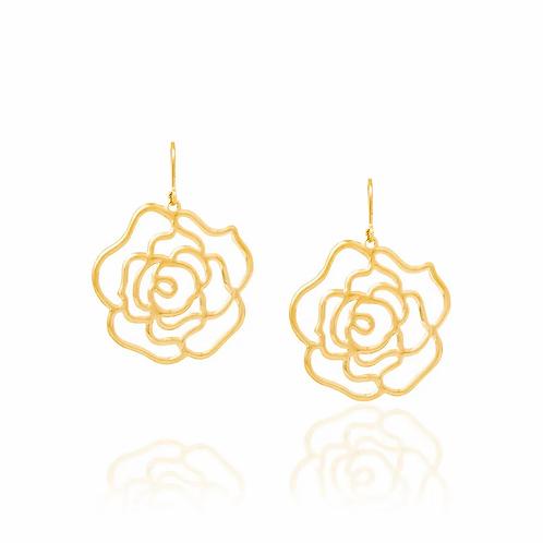 Brinco rommanel folheado a ouro flor - tam.único 5235190000