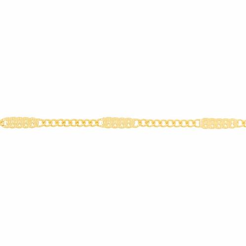 Cordão folheado a ouro fio grumet - tam.50 5310195000