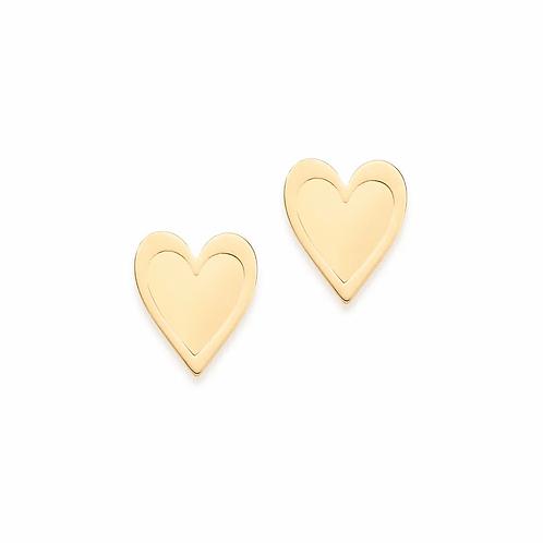 Brinco coração folheado a ouro - tam.único 5265860000