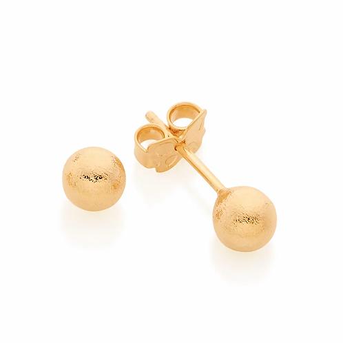 Brinco rommanel folheado a ouro bola - tam.único 5260310000