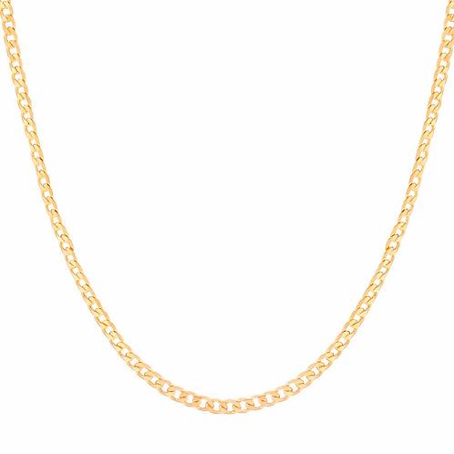 Cordão folheado a ouro elos entrelaçados diamantados - tam.60 5312966000