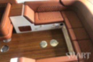 перетяжка салона лодки