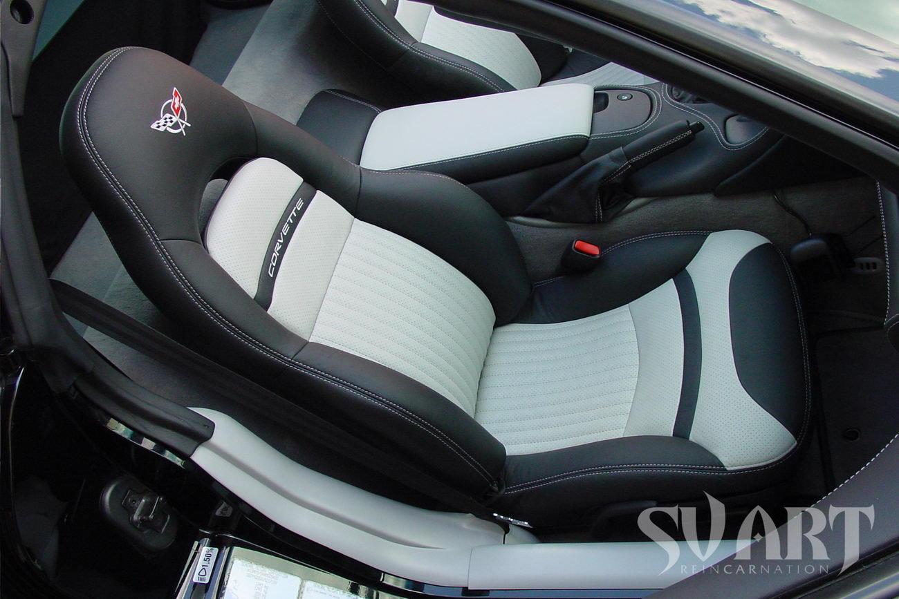 chevrolet corvette перетяжка сидений