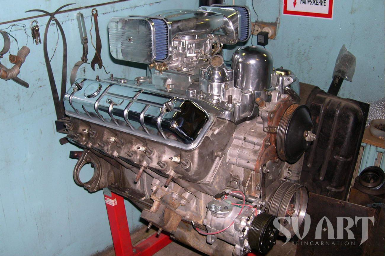 двигатель газ 13 чайка