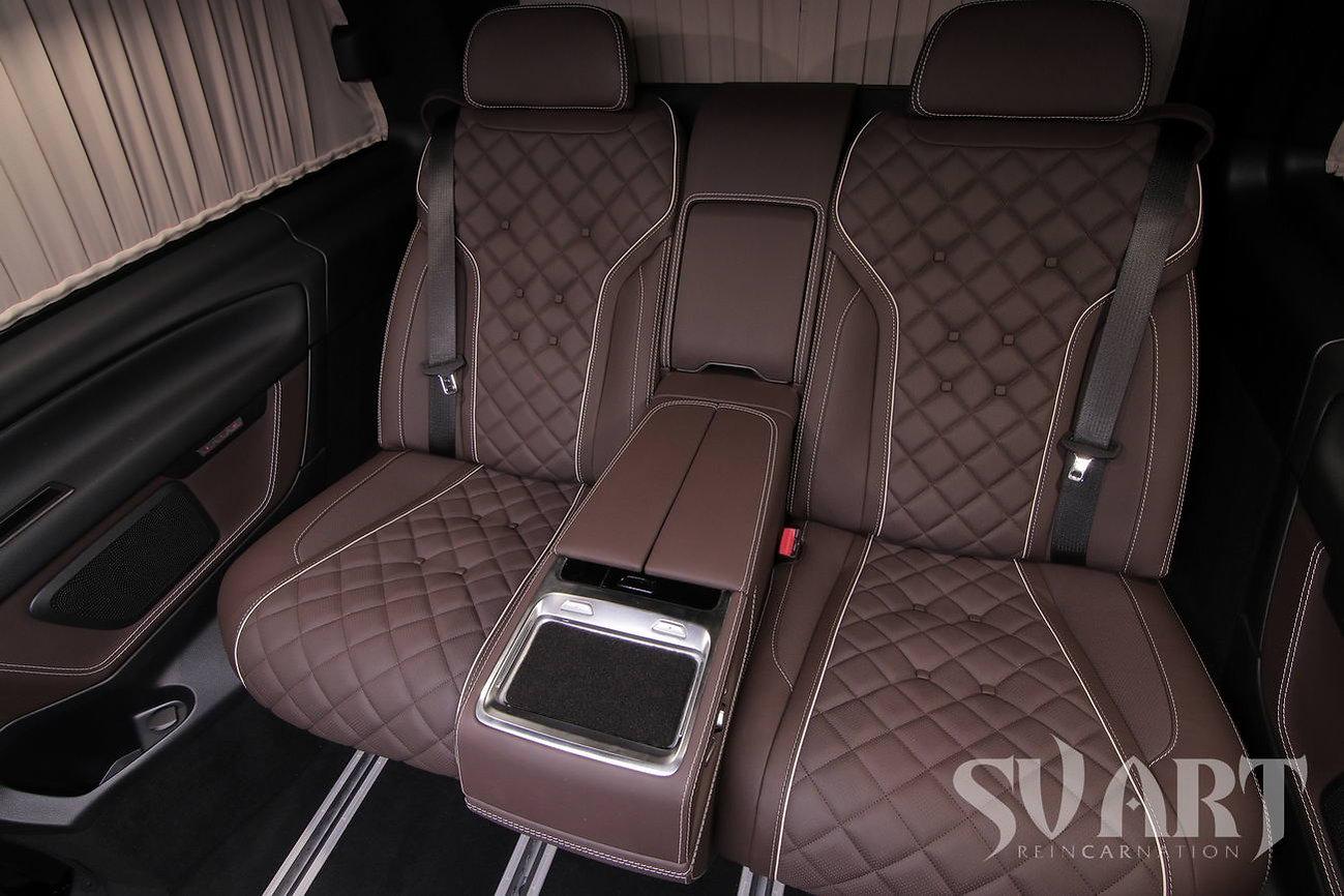 vip диван в mercedes vclass multivan