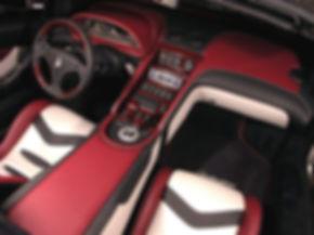 перетяжка автомобиля кожей