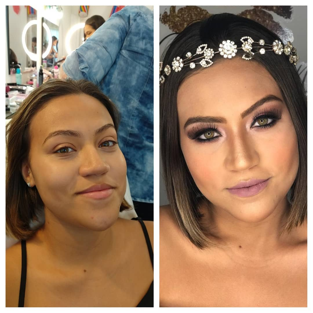 Antes e Depois - Make Noiva