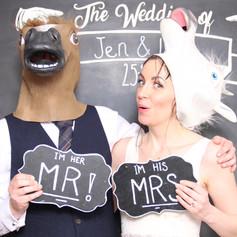 wedding bygone photo booth