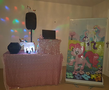 Unicorn theme party entertainer
