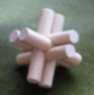 Pybic en croix, casse-tête en bois