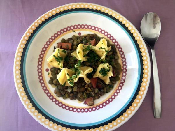 Lentilha com fagottini