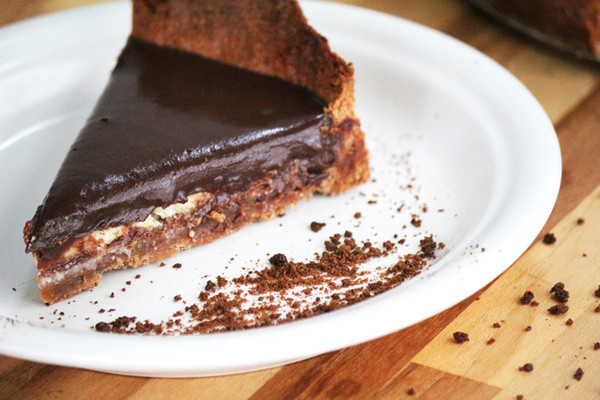 Torta cremosa de laranja com ganache de chocolate meio amargo