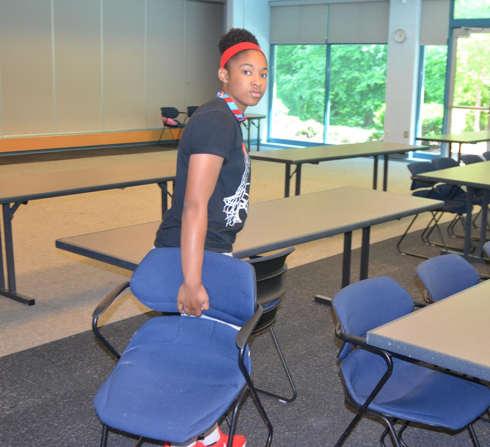 Youth retreat volunteer