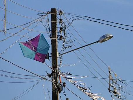 Ocorrências com pipas na rede elétrica triplicam em Pernambuco e Celpe reforça orientações de segura