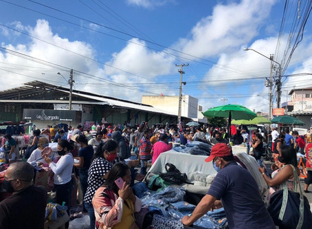 Feira da Sulanca de Caruaru registra grande movimento mesmo proibida de reabrir