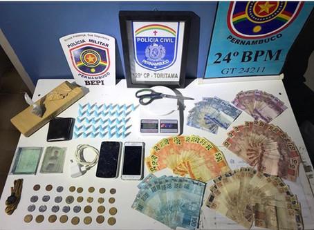 Polícia prende traficante e apreende drogas e dinheiro em Toritama