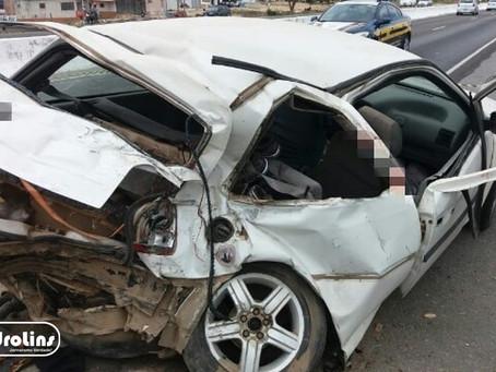 Adolescente morre e quatro pessoas da mesma família ficam feridas em acidente na BR-104, próximo a J