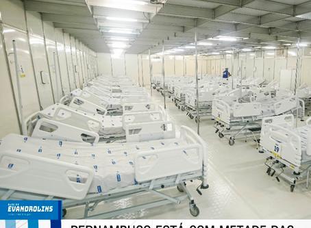 Pernambuco está com metade das vagas de enfermarias desocupadas