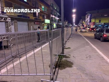 Prefeitura de Toritama interdita parte da avenida João Manoel para usuários da Caixa Econômica