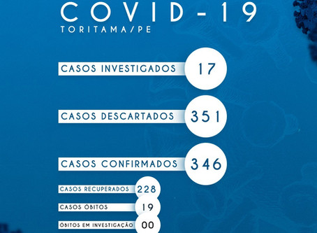Toritama registra quatro novos casos da Covid-19 nesta quinta-feira (23)