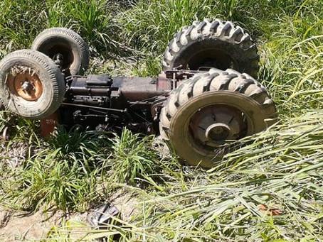 Agricultor morre esmagado por trator na zona rural de Bezerros