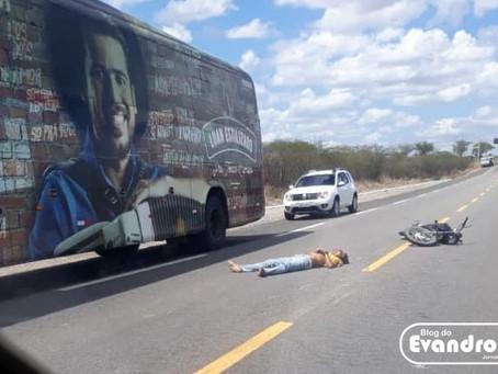 Motociclista morre em grave acidente no trevo de Taquaritinga do Norte