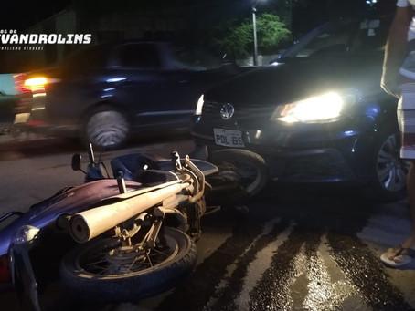 Acidente entre moto e carro é registrado no trevo de Toritama