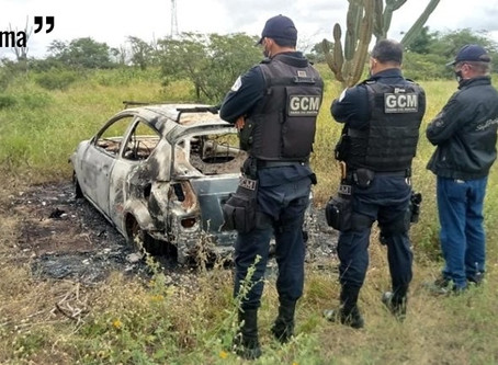 Corpo é encontrado carbonizado dentro de carro na zona rural de Taquaritinga