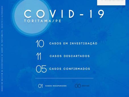 Coronavírus - Casos em investigação sobem de 2 para 10 nesta quinta-feira (14) em Toritama