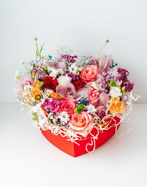 Flower Box - Serce Pełne Miłości