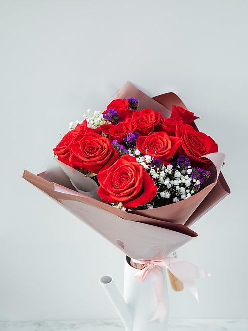 Bukiet Róże z dodatkami