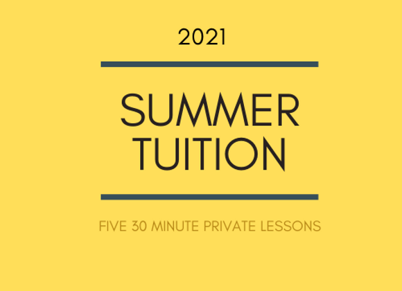 Summer Tuition: 30 Minute Lessons