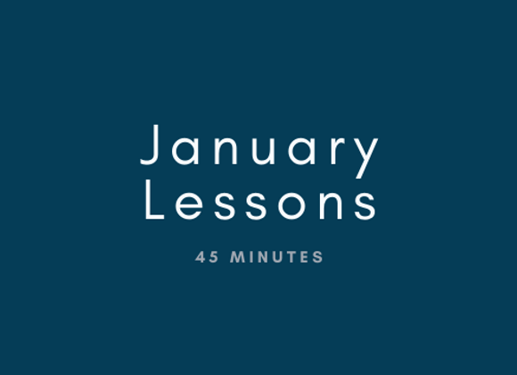 January: 45 Minute Flute Lessons