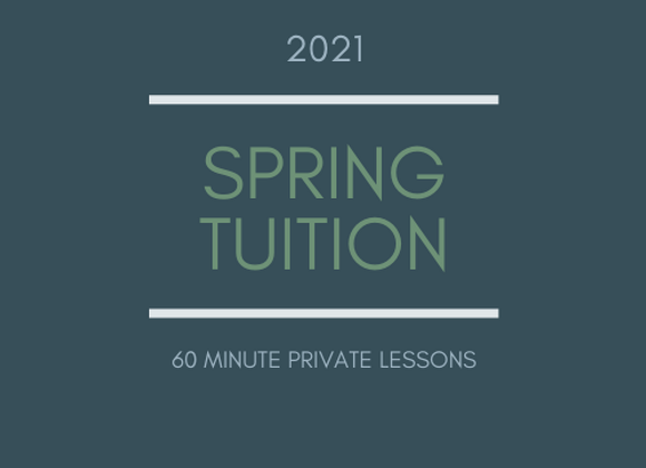 Spring Tuition: 60 Minute Private Flute Lessons