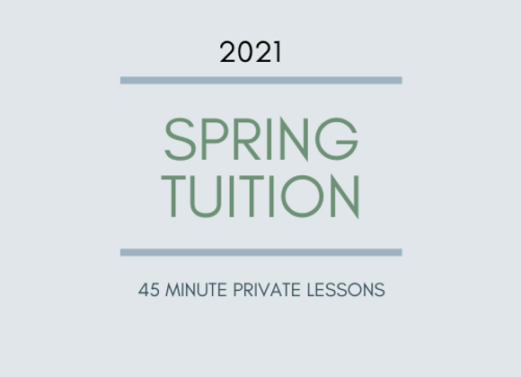 Spring Tuition: 45 Minute Private Flute Lessons