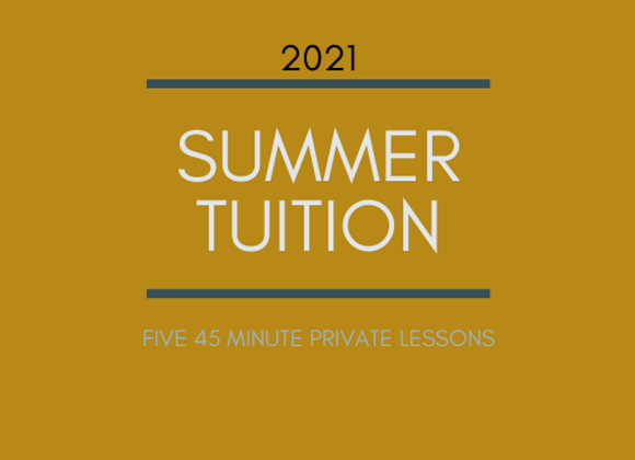 Summer Tuition: 45 Minute Flute Lessons