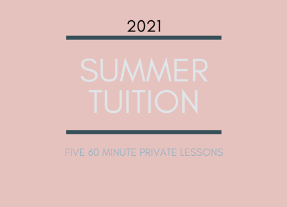 Summer Tuition: 60 Minute Lessons