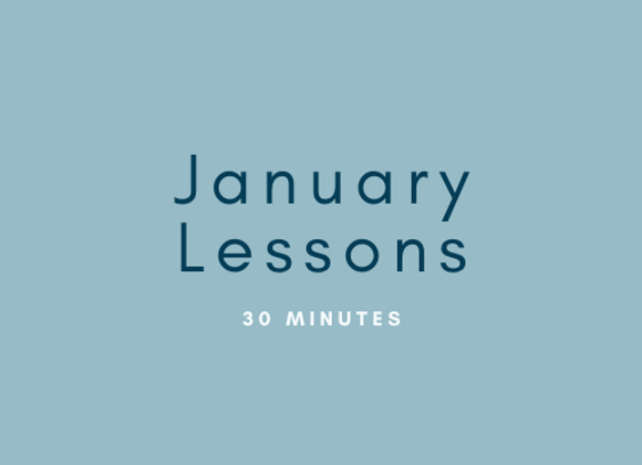 January: 30 Minute Flute Lessons