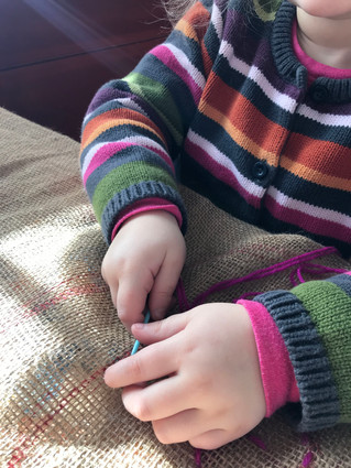 Working those hands with sewing