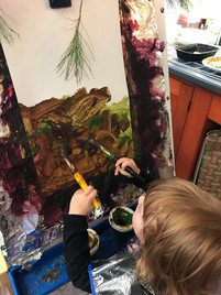 Exploring a two handed painting technique