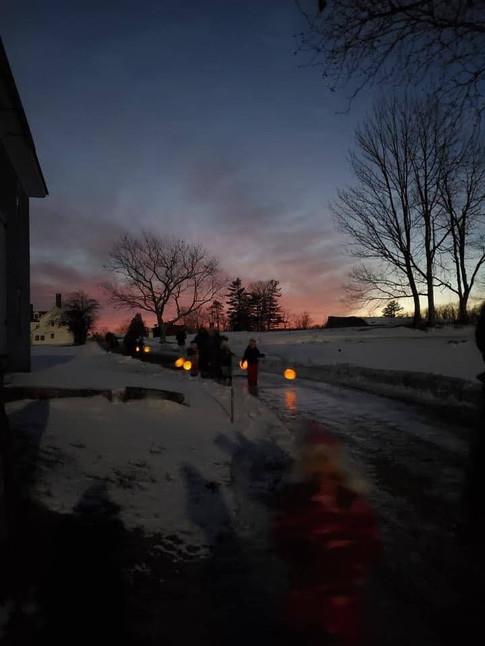 Snow Moon Walk with Lanterns