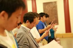 祈願会の儀式模様