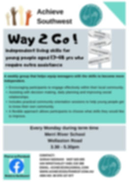 Way2Go Young Persons update poster 2020.
