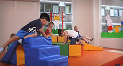 children playing kindergarten inside .jp