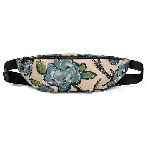 Blue Roses Fanny Pack