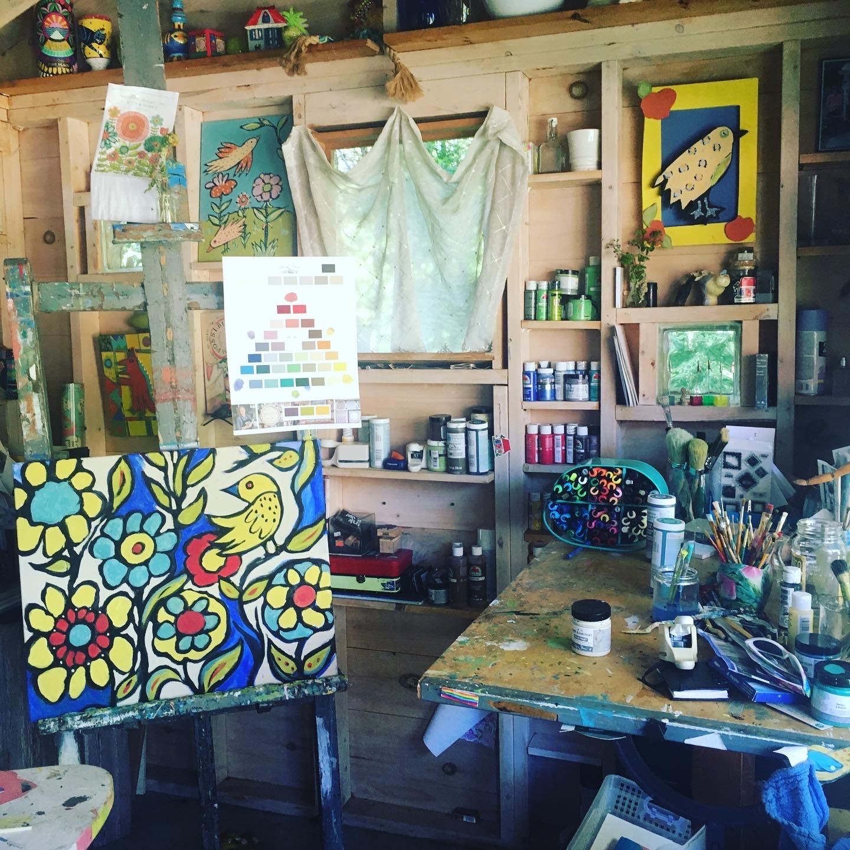 Summer studio interior