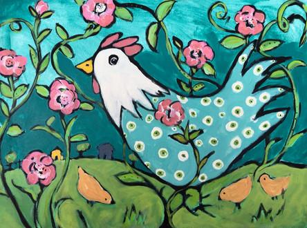 Baby Blue Mama Bird
