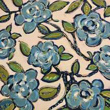 Blue Roses Pattern Painting